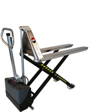Hygienic manual transporting and electric lifting to the right working height